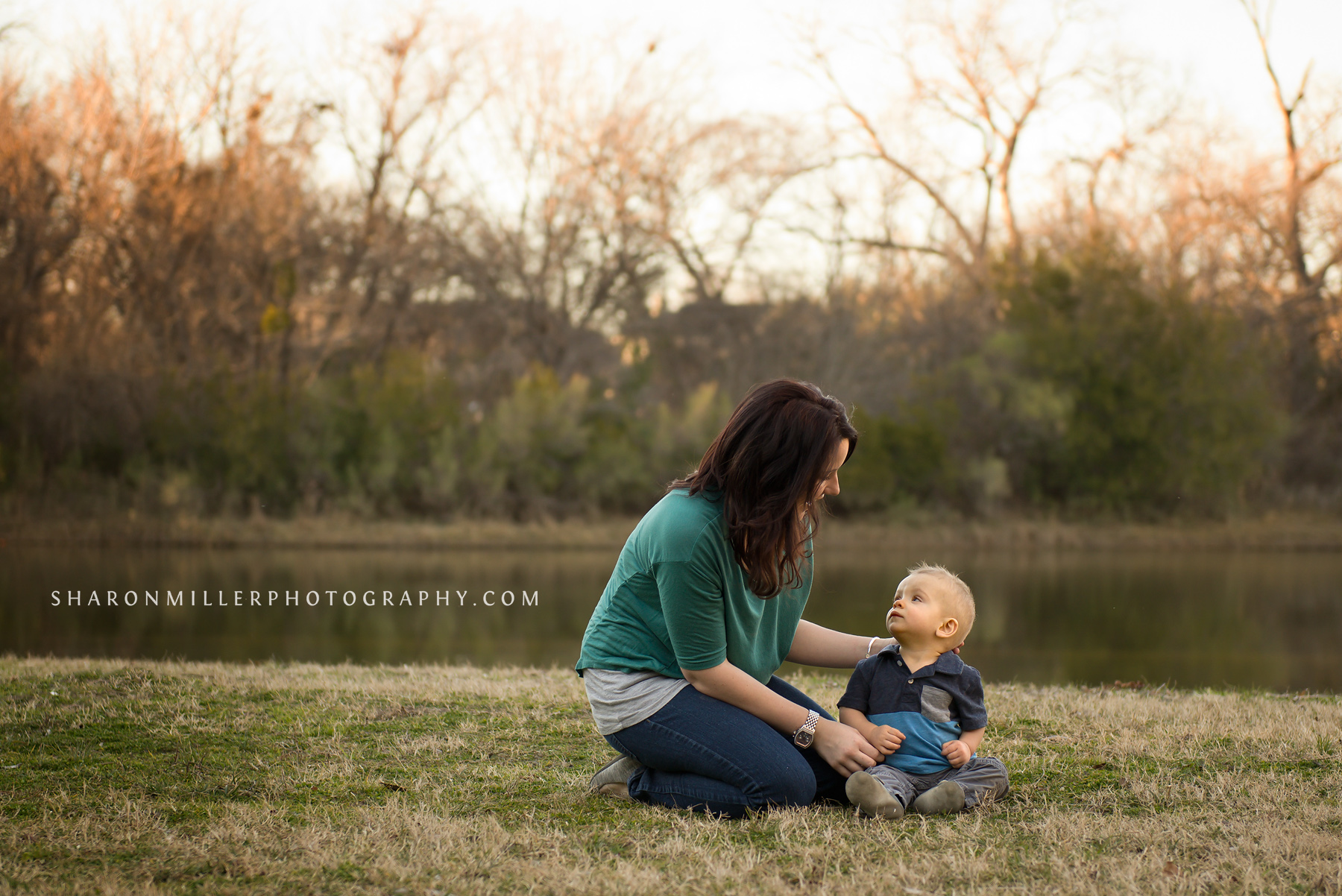 lifestyle portrait of mother and son by Colleyville family photographer Sharon Miller